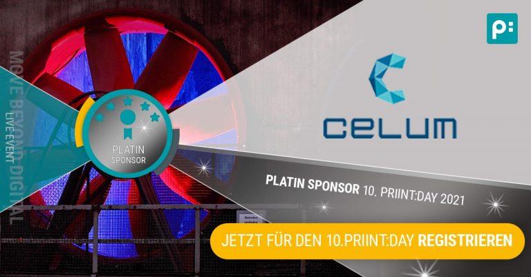 CELUM ist Platinum Sponsor des priint:day 2021
