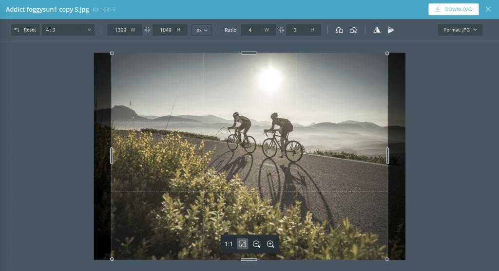 Der Bildeditor von CELUM kann einfache Bildbearbeitungen vornehmen